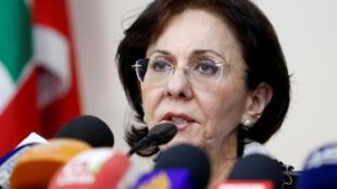 La secrétaire exécutive de la Commission économique et sociale pour l'Asie occidentale, Rima Khalaf, a démissionné, vendredi 17 mars 2017.