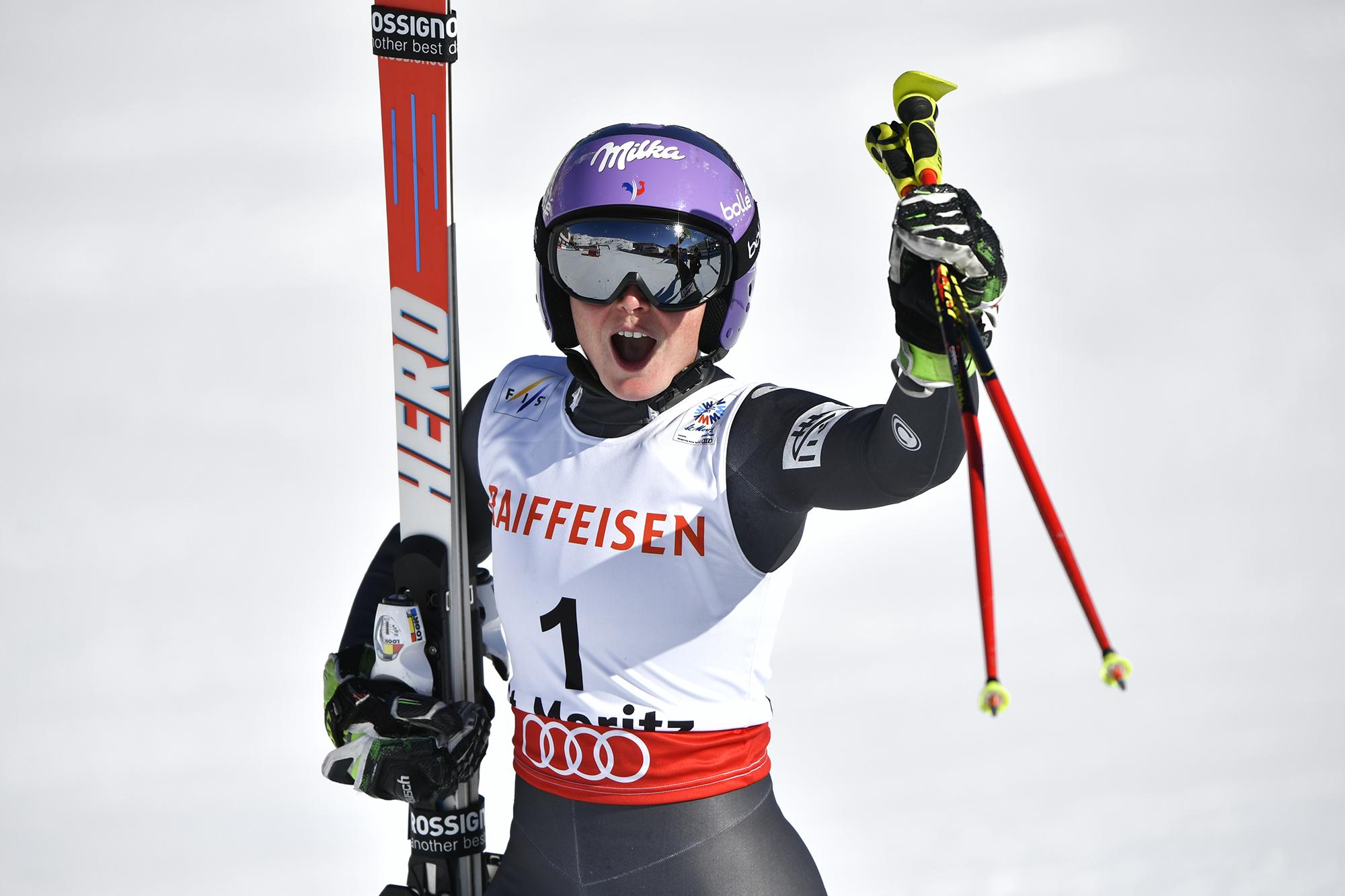 Tessa Worley, le 16 février 2017, à Saint-Moritz.