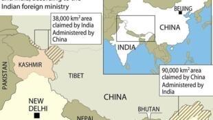 Các vùng tranh chấp tại biên giới Ấn - Trung