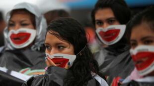 Manifestación a favor de la despenalización del aborto en todo México, Ciudad de México, este 28 de septiembre de 2016.