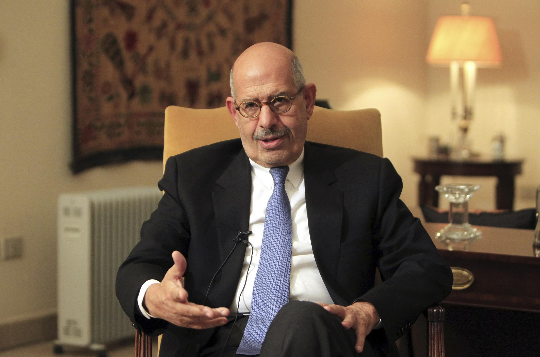 Tân Thủ tướng Ai Cập Mohamed ElBaradei trong một cuộc trả lời phỏng vấn ở Cairo. Ảnh tư liệu chụp ngày 24/12/2012.
