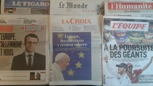Os jornais franceses desta sexta-feira, dia 24 de Março.
