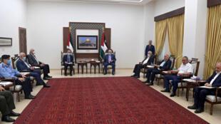 000_9A22KR Palestiniens Ramallah Mahmoud Abbas