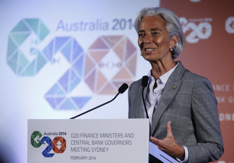 Christine Lagarde, directrice du FMI, le  23 février 2014.