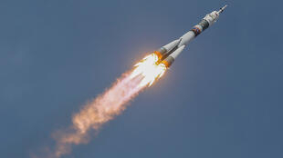 موشک «سایوز ام اس-١٠» که در ٦ ژوئن ٢٠١٨ از پایگاه فضائی بایکونور در قراقستان به فضا پرتاب شد