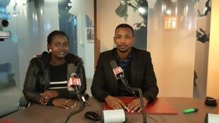 Charles Habonimana et sa soeur.