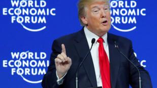 Tổng thống Mỹ Donald Trump phát biểu tại Diễn đàn Kinh tế Davos, Thụy Sĩ. Ảnh tư liệu chụp ngày 26/01/2018.