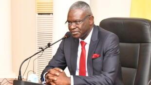 Le Premier Ministre Anatole Collinet Makosso, le 18 mai 2021, à Brazzaville.
