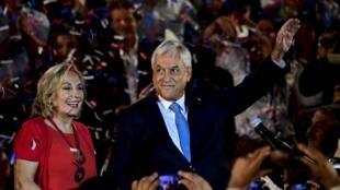 El ex presidente Sebastián Piñera, el 21 de marzo de 2017 en Santiago durante el lanzamiento de su candidatura.
