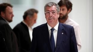 File photo of Levallois-Perret Mayor Patrick Balkany at the Palace of Justice in Paris, May 2019.