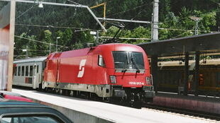Un train de la compagnie nationale autrichienne ÖBB.