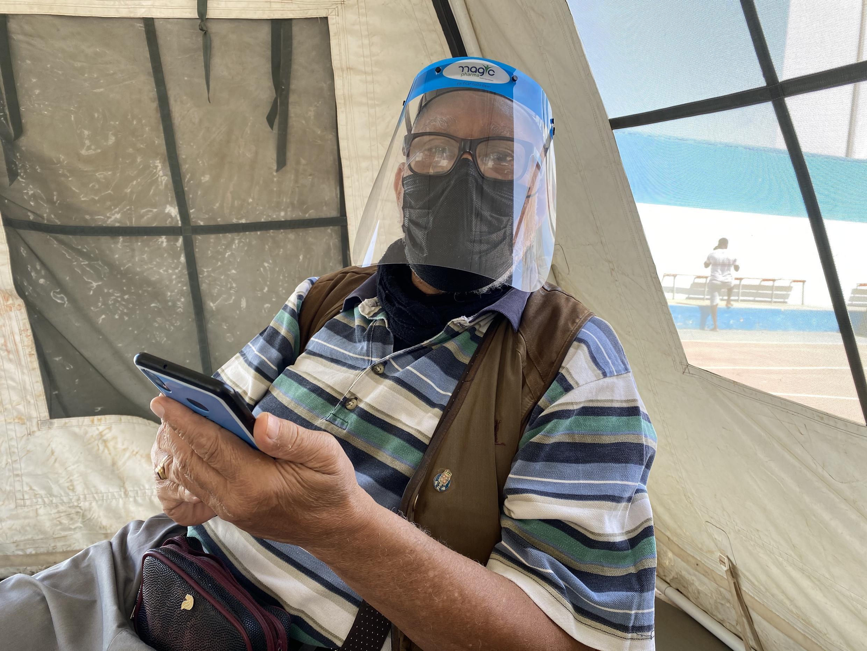 Óscar Gomes foi vacinado esta quinta-feira.Cidade da Praia, Cabo Verde. 15 de Abril de 2021.