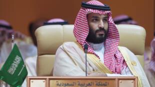 Thái tử Vương Quốc Ả Rập Xê Út Mohammed benn Salmane tại thượng đỉnh Liên Đoàn Ả Rập ở Dhahran 15/04/2018.