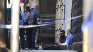 Près de la station de Flinders Street dans le centre de Melbourne, après une attaque à la voiture-bélier, ce 21 décembre 2017.