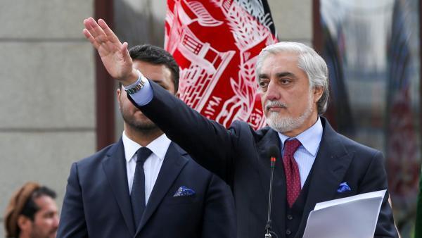 L'ancien chef de l'exécutif Abdullah Abdullah, lors de sa cérémonie d'investiture en tant que président de l'Afghanistan, à Kaboul, le 9 mars 2020