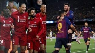 Wasu daga cikin 'yan wasan da kungiyoyin Liverpool da Barcelona.