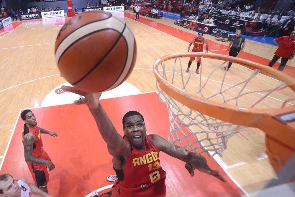 L'Angolais Yanick Moreira lors de l'Afrobasket 2015.