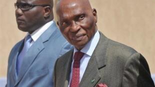 Senegal's president Abdoulaye Wade