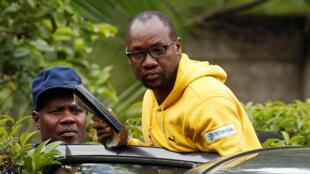 Le pasteur Evan Mawarire, figure de la société civile, lors de son arrestation à Harare, Zimbabwe, le 16 janvier 2019.