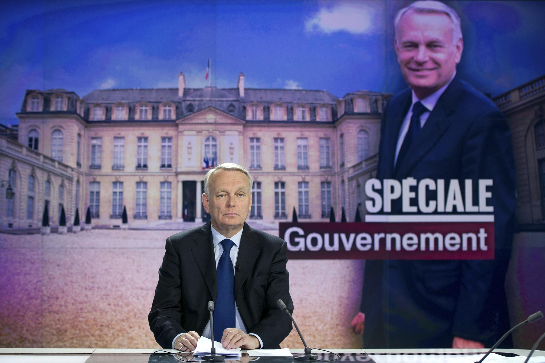 Tân thủ tướng Jean-Marc Ayrault, khách mời của kênh truyền hình France 2, ngay sau khi thành phố chính phủ được công bố, 16/05/2012.