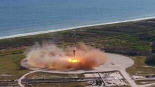 Le premier étage de la fusée Falcon 9 de SpaceX est parvenu à se poser sans encombre sur la base de lancement de Cap Canaveral, le 15 décembre 2017.