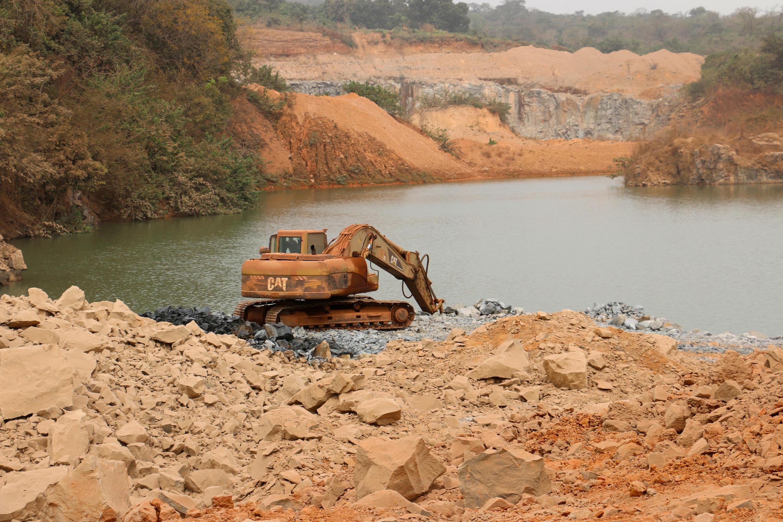 Une mine de bauxite en Guinée.