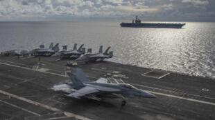 US - Bien Dong - porte-avions - USS Ronald Reagan - USS Nimitz