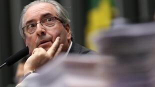 O presidente da Câmara dos Deputados, Eduardo Cunha, durante sessão do Congresso Nacional, em Brasília.