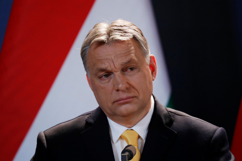 Thủ tướng Hungary Viktor Orban trong cuộc họp báo ngày 10/04/2018 tại Budapest