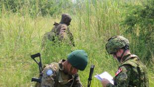 Des soldats des Forces armées de la RD Congo, avec l'appui de la Force de la MONUSCO, poursuivent la traque des groupes armés à l'est de la RD Congo.