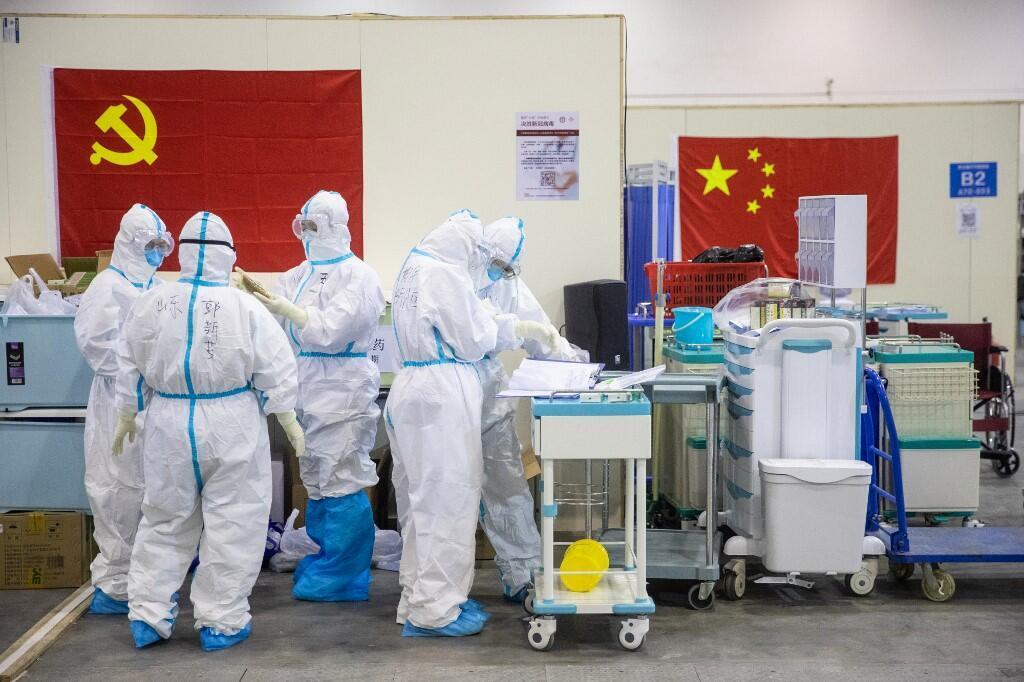Một bệnh viện điều trị virus corona tại tâm dịch Vũ Hán, Trung Quốc. Ảnh chụp ngày 17/02/2020.