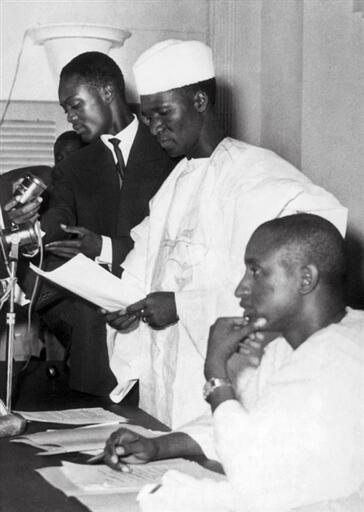 wani hoton Ahmed Sékou Touré ranar 4 ga Oktoban shekarar 1958.