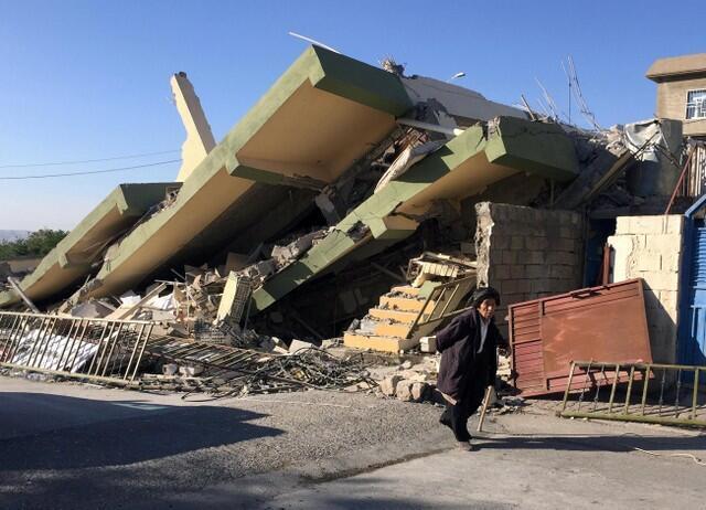两伊交界地区发生大地震,死伤惨重。