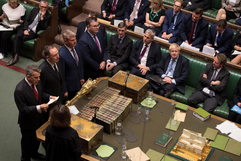Débat animé et noms d'oiseaux mercredi 4 septembre à la Chambre des communes à Londres: Boris Johnson a été envoyé dans les cordes avec un double revers.