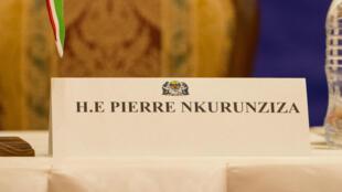 La chaise du président Nkurunziza est restée vide, le dimanche 31 mai 2015, à Dar es Salaam, comme le 13 mai lors d'un précédent sommet dans la capitale tanzanienne.