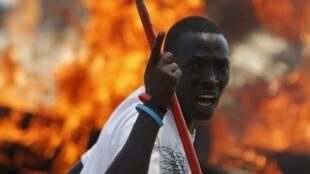 Bujumbura, ce 13 mai 2015, après la tentative de coup d'Etat contre Pierre Nkurunziza.