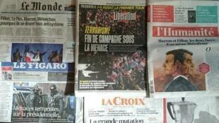 Diários franceses desta quarta-feira 19 de Abril de 2017.