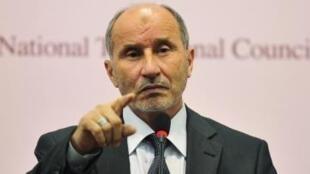 O presidente do Conselho Nacional de Transição da Líbia, Moustapha Abdeljalil.