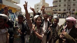 Yemenis celebrate what many hope will be a new era without President Ali Abdullah Saleh