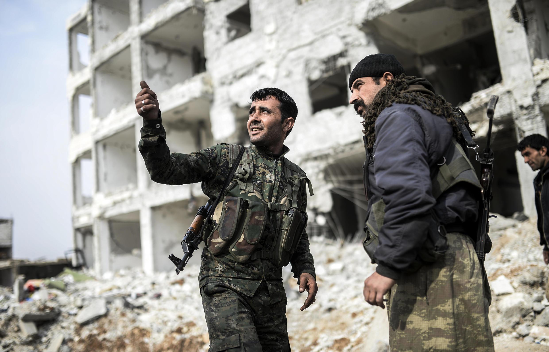 Chiến sự tại một thành phố Syria giáp với Thổ Nhĩ Kỳ.