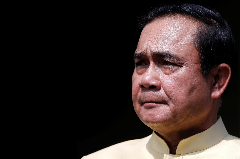 El Primer ministro  Prayuth Chan-ocha, ex comandante en jefe y presidente de la junta, mayo 2016  Bangkok.