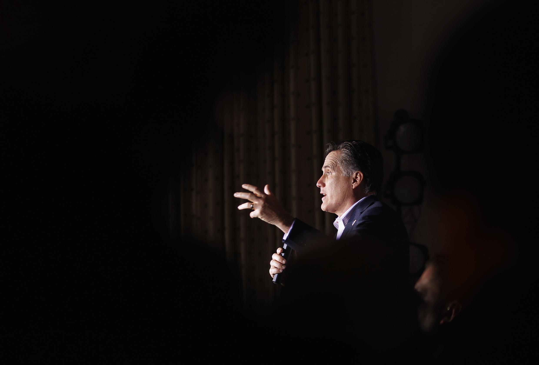 O pré-candidato Republicano, Mitt Romney, durante campanha nesta segunda-feira, em Ohio.
