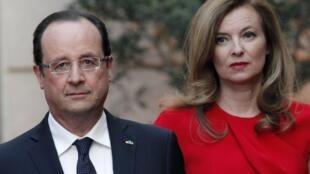 Франсуа Олланд и Валери Триервейлер.