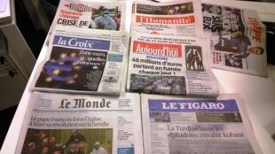 Diários franceses 14/10/2014