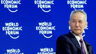 劉鶴出席瑞士達沃斯世界經濟論壇2018年年會資料圖片