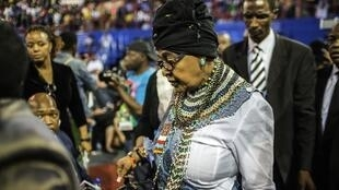 Afrique du Sud Winnie Mandela, l'ex-femme de Nelson Mandela, ici le 30 octobre 2014, s'est vue refuser le droit à la propriété familliale de Qunu