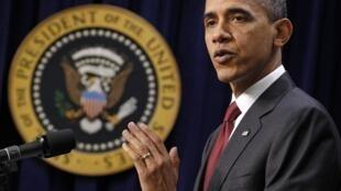 美國總統奧巴馬2010年12月22日在美國參議院
