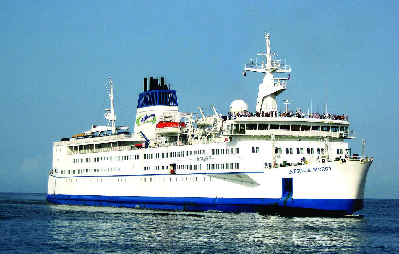 Africa Mercy, navire-hôpital de la flotte Mercy Ships.