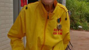 Monsieur Xiang était pilote de char. Il a aujourd'hui 94 ans.