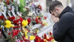 Мемориал памяти Героев Небесной сотни в Киеве, 20 февраля 2018.
